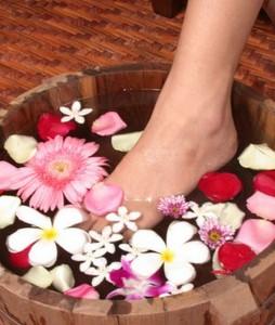 tratamento dos pés