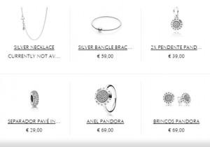 Algumas das jóias da coleção de outono - Pandora