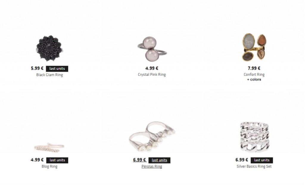 Coleção de anéis outono/inverno - Parfois