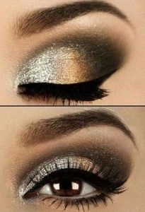 Um olhar esfumado em tons de negro e dourado é sempre uma opção arrebatadora