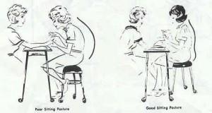 Até sentada, deves estar sempre atenta à posição que adotas