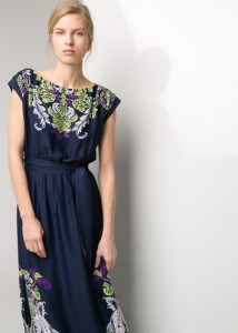 Vestido estampado barroco - Mango Outlet: 49,99€