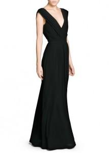 Vestido comprido com decote cruzado - Mango Outlet: 49,99€