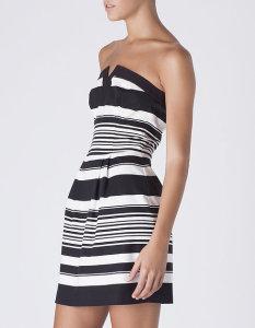 Vestido às riscas - Blanco: 29,99€