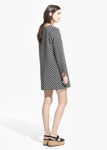 Vestido estampado geométrico - Mango: 39,99€