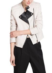 Blusão bicolor pele - Mango Outlet: 79,99€ (199,99€)