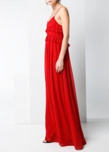 Vestido comprido croché - Mango Outlet: 19,99€ (49,99€)