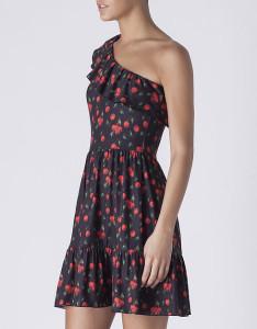 Vestido assimétrico com cerejas - Blanco: 22,99€