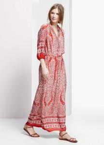 Vestido comprido estampado - Violeta: 69,99€