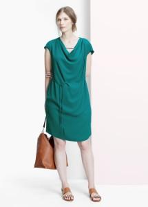 Vestido decote drapeado - Violeta: 34,99€ (49,99€)